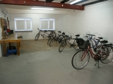 garage for bycycles and motorcycles